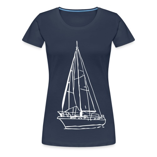 Segelboot [Girlie] - Frauen Premium T-Shirt