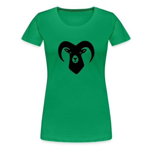 tier t-shirt schaf widder ziege horn hörner bock schafskopf hirsch geweih karten spiel kartenspiel - Frauen Premium T-Shirt