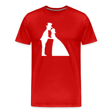 A wedding kiss man and woman formal dress top hat and for Wedding dress t shirt designs