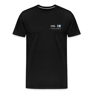 Classic T-Shirt HEL FINLAND white-lettered - Men's Premium T-Shirt