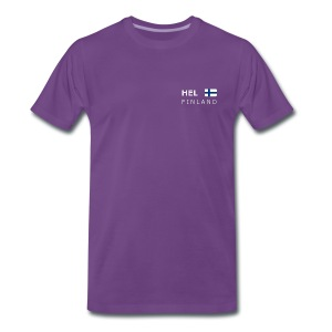 Classic T-Shirt HEL FINLAND white-lettered - Men's Premium T-Shirt