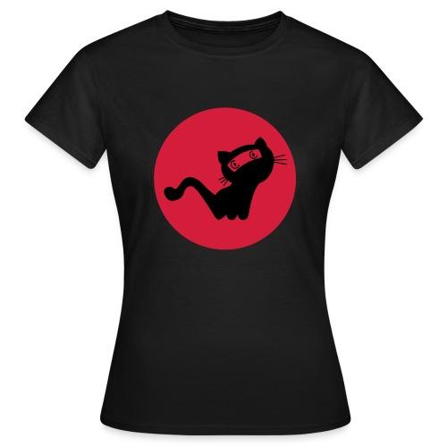 Die schwarze Ninja-Katz - Frauen T-Shirt