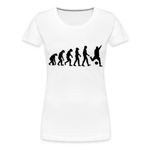 T-shirt:  Evolution Fußball - Frauen Premium T-Shirt