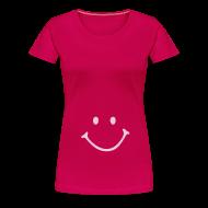 T-Shirts ~ Frauen Premium T-Shirt ~ Schwangershirt: Smiley (pink/rosa)