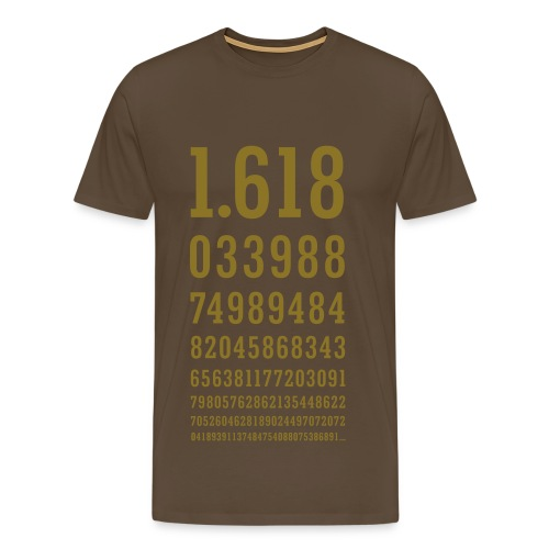 Golden Ratio T Shirt Metallic Gold Print (men) - Men's Premium T-Shirt