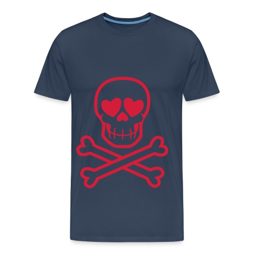 valentines skull - Men's Premium T-Shirt