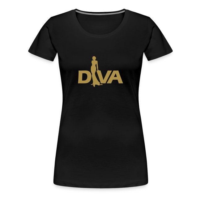 Diva Figure - Gold Glitter - Black