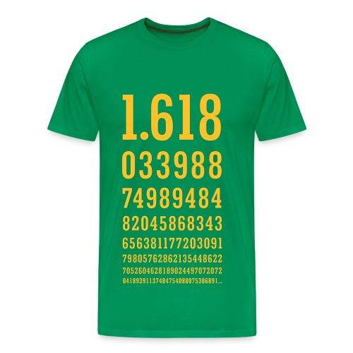 Golden Ratio T Shirt Yellow Print (men) - Men's Premium T-Shirt