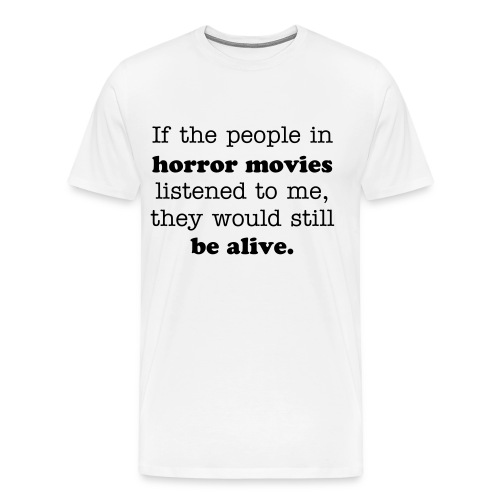 horror - white - Men's Premium T-Shirt