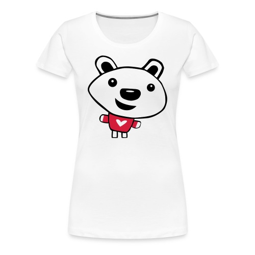 Happy Polar Bear - Women's Premium T-Shirt