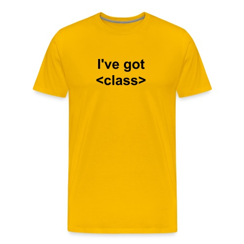 Web design t-shirt I've got class - Men's Premium T-Shirt