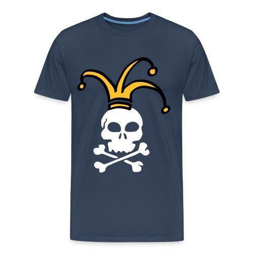 april fools skull - Men's Premium T-Shirt