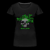T-Shirts ~ Women's Premium T-Shirt ~ Skull.sys neon green/grey
