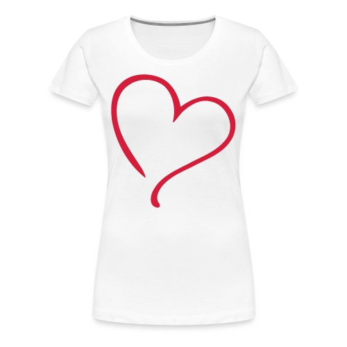 T-shirt (women) Heart Love - Women's Premium T-Shirt