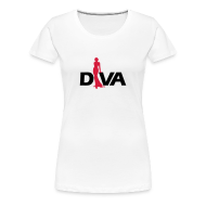 T-Shirts ~ Women's Premium T-Shirt ~ Diva Figure - Girlie Shirt - White