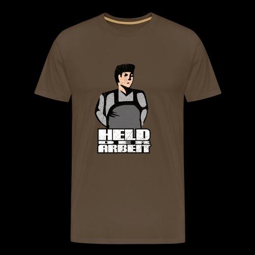 Held der Arbeit (Arbeiterheld) oldstyle - Männer Premium T-Shirt