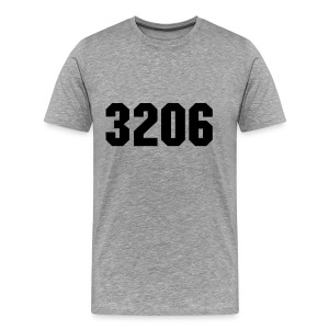3206 AK Grey/Black - Mannen Premium T-shirt