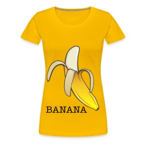 Women's Premium T-Shirt - banana,banana top,t-shirt