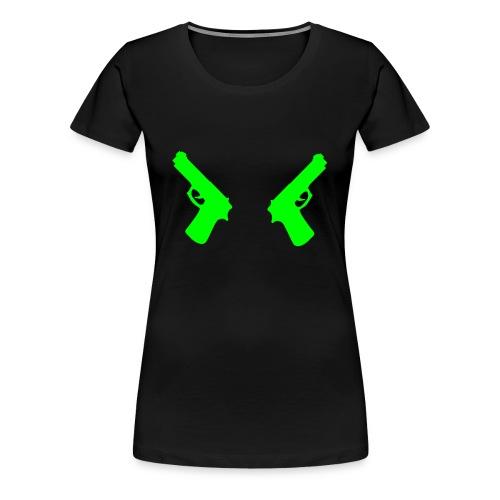 Pistolen - Frauen Premium T-Shirt