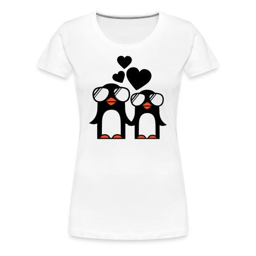 T-shirt (women) Penguins fallen in love - Women's Premium T-Shirt