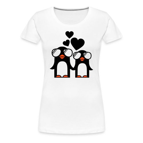 T-shirt (women) Penguins fallen in love - Women's Premium T-Shirt