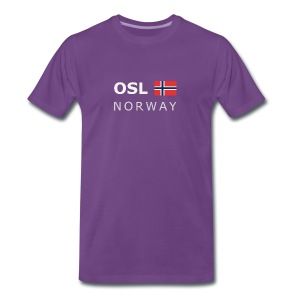 Classic T-Shirt OSL NORWAY white-lettered - Men's Premium T-Shirt