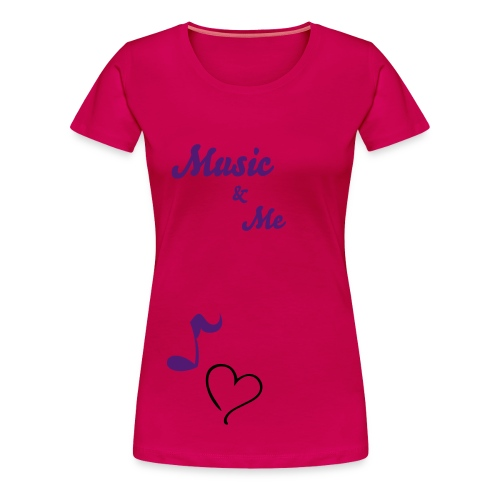 MUSIC AND ME' Women T-Shirt - Vrouwen Premium T-shirt