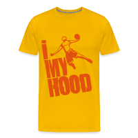 Men's Premium T-Shirt with design Basketball - I throw my Hood