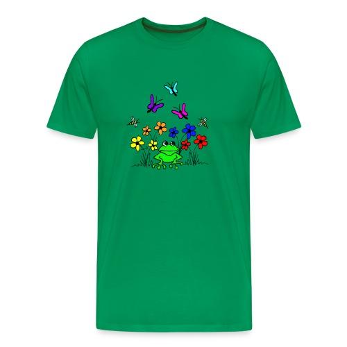 blumenfrosch t-shirt - Männer Premium T-Shirt