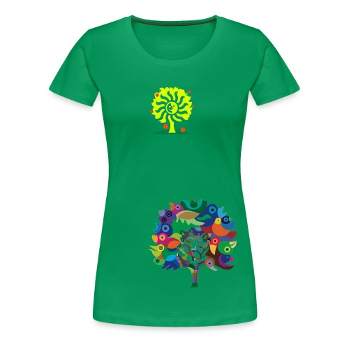 Green Nature Girlieshirt - Frauen Premium T-Shirt