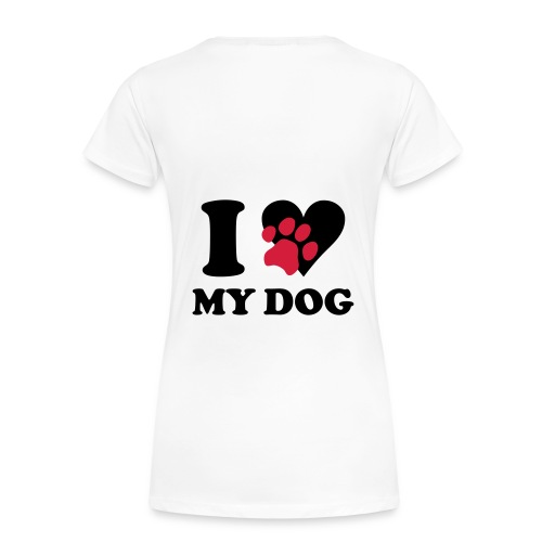 Love my dog Jack Russel - T-shirt Premium Femme