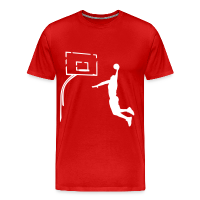 Men's Premium T-Shirt with design Basketball Dunk