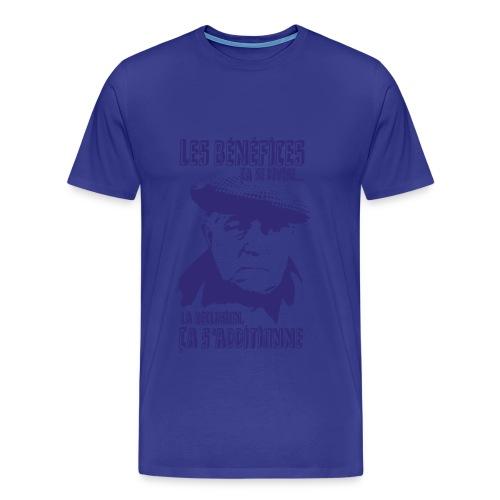 Jean Gabin - Le cave se rebiffe - Bleu Marine/Bleu ciel - T-shirt Premium Homme