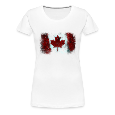 Canadian Flag Graffiti - Women's