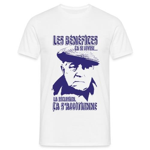 Jean Gabin - Le cave se rebiffe - Bleu Marine/Beige - T-shirt Homme