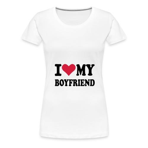 I <3 my boyfriend - Frauen Premium T-Shirt