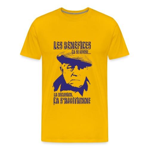 Jean Gabin - Le cave se rebiffe - Bleu Marine/Jaune - T-shirt Premium Homme