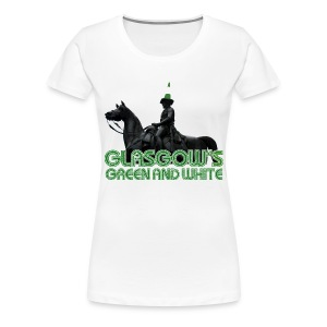 Glasgow's Green & White - Women's Premium T-Shirt