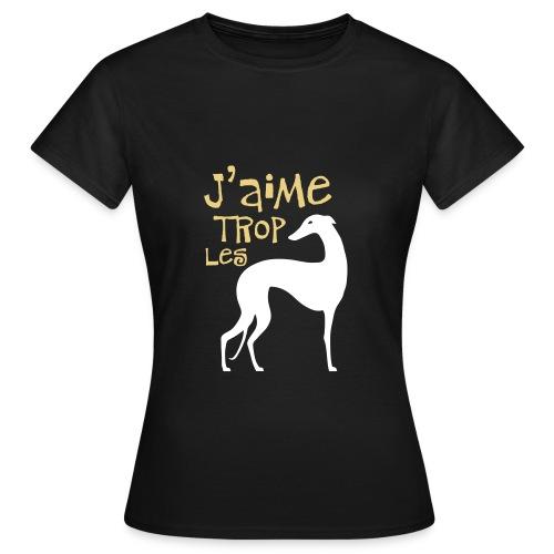 Lévrier stylisé. J'aime trop... - T-shirt Femme