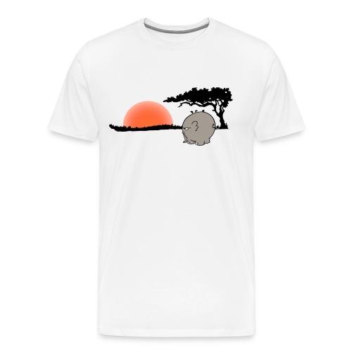 Ngumbe im Sonnenuntergang - Männershirt Übergröße - Männer Premium T-Shirt