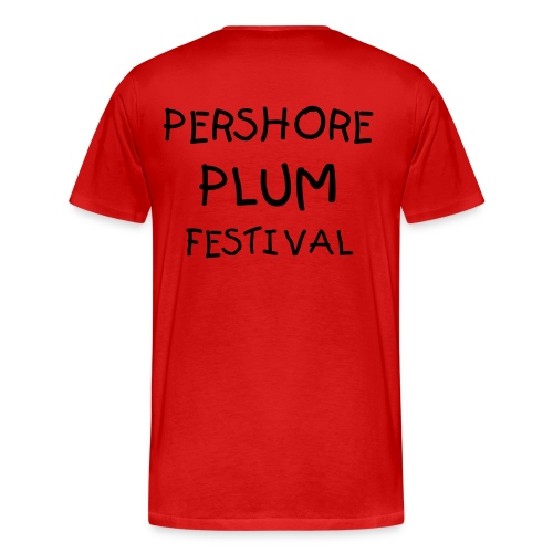 Men's Premium T-Shirt - This T-Shirt is for the upcoming  Pershore Plum Festival.  Celebrate the month long festivities in style and join in with the purple themes.  