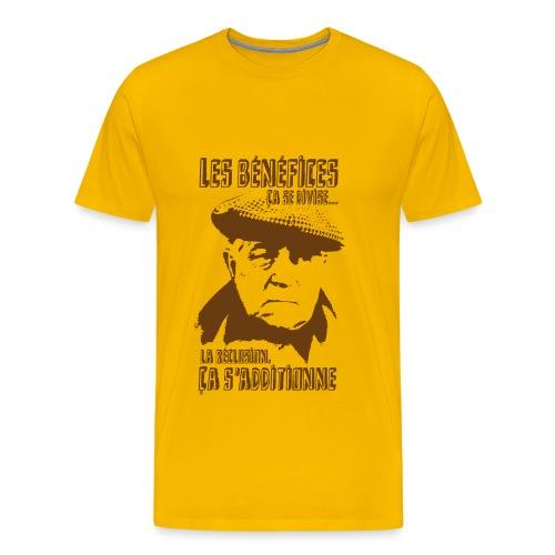 Jean Gabin - Le cave se rebiffe - Marron/Jaune - T-shirt Premium Homme