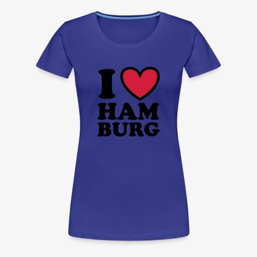 I LOVE Hamburg - Herz Heart 1c Frauen T-Shirt sand + alle Farben - Frauen Premium T-Shirt