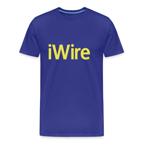 iWire - Blue T - Men's Premium T-Shirt
