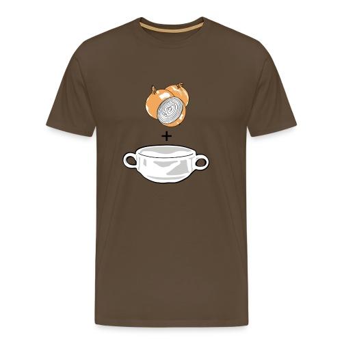 Onion Soup on Color - Men's Premium T-Shirt