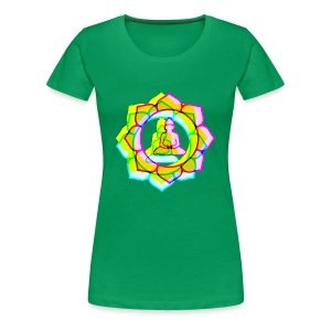 colorful BUDDHAS in Lotusblüte | Frauenshirt XXXL - Frauen Premium T-Shirt