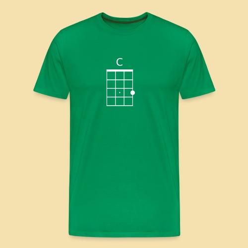 Menshirt: C-Dur (Motiv: weiß) - Männer Premium T-Shirt