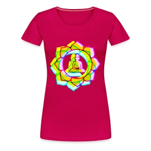 colorful BUDDHAS in Lotusblüte | Frauenshirt Girlie Style - Frauen Premium T-Shirt