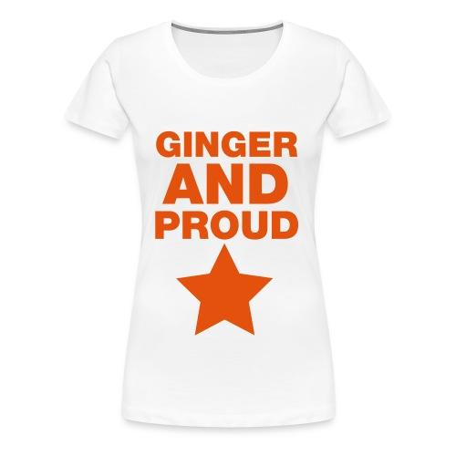 GINGER AND PROUD (WOMENS) - Women's Premium T-Shirt