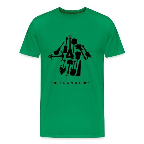 Guitarrow Black Print - Men's Premium T-Shirt
